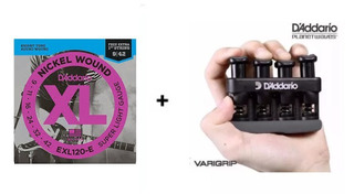 Corda Daddario Exl120 Guitarra + Exercitador Mão Varigrip