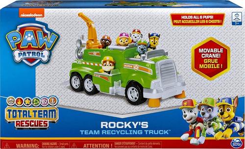 Paw Patrol - Camión De Reciclaje Rockys - Entrega Inmediata!