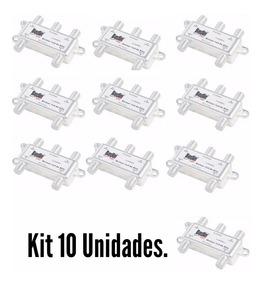 Kit 10 Divisor 1:4 Alta Satélite 5-2400mhz Banda C Banda Ku