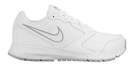 Tenis Nike Downshifter 6 Ltr 832883-100 Blanco Jr Pv