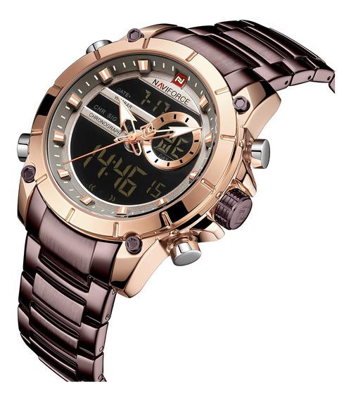 Relógio Masculino Esportivo Digital Naviforce Lançamento