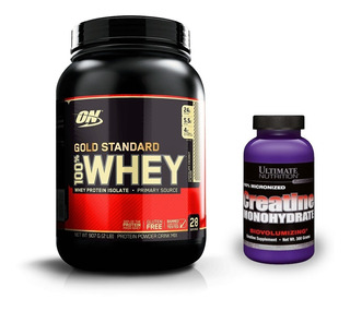 Combo Whey Gold Standard + Creatina Ultimate Nutrition