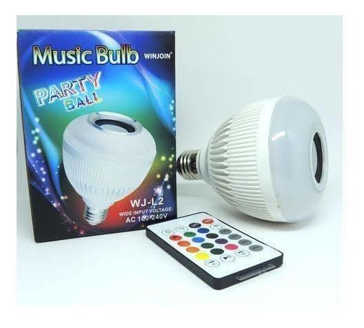 Lâmpada Bluetooth, Caixa De Som Com Controle