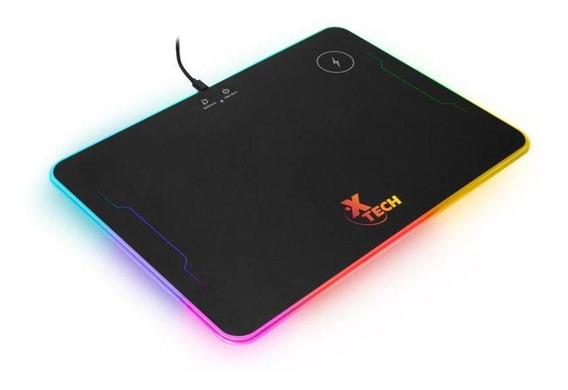 Mouse Pad Gamer Xtech Rig Rgb 7col Carga Inalamb Qi Xta-201