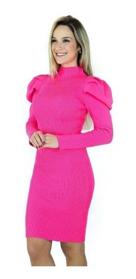 Vestido De Tricô Modal Comprimento Mid Roupas Femininas