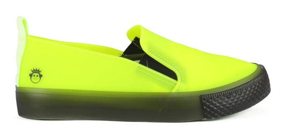 Tênis Kings Sneakers Slip On See You Monkey Verde Neon