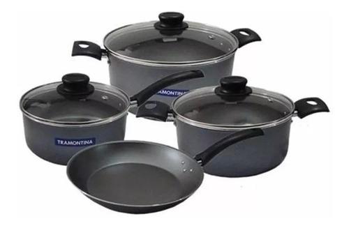 Ollas Tramontina Juego Bateria De Cocina Turim Teflon Set 7