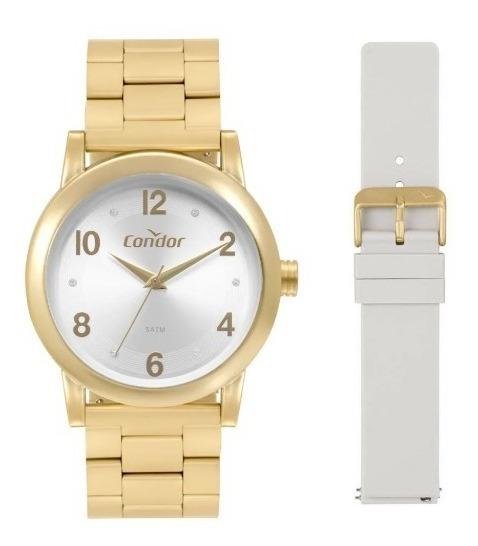 Relógio Condor Kit Troca Feminino Dourado Co2035mqo/t8c