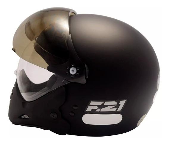 Capacete Moto Peels F21 Preto Fosco Original Viseira Dupla