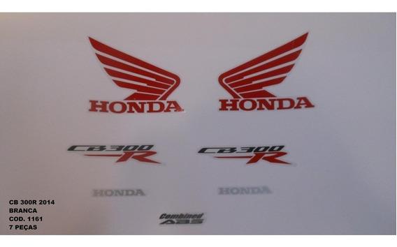 Faixa Adesivo Completo Honda Cb 300r Branco - 2014 - 14