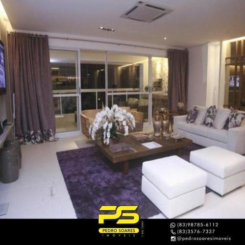 Apartamento Com 4 Dormitórios À Venda, 160 M² Por R$ 1.622.059 - Altiplano Cabo Branco - João Pessoa/pb - Ap4100