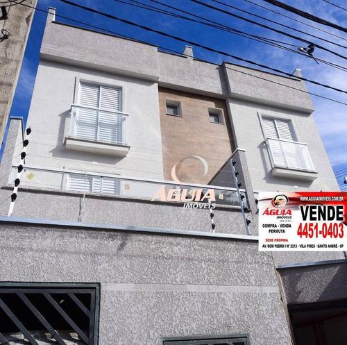 Imagem 1 de 23 de Cobertura Com 2 Dormitórios À Venda, 48 M² Por R$ 345.000,00 - Vila Luzita - Santo André/sp - Co1009