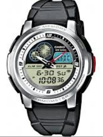 Reloj Casio Modelo Aqf 102 Caucho Caratula Clara