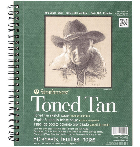 Cuaderno De Dibujo Strathmore Toned Tan Sketch 23 X 30 Cm