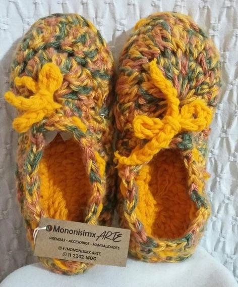 Pantuflas De Lana Lho Al Crochet, Matisada