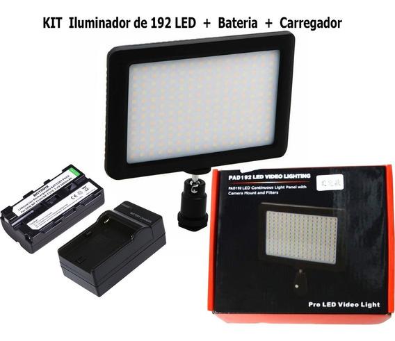 Kit Iluminador De 192 Led + Bateria + Carregador