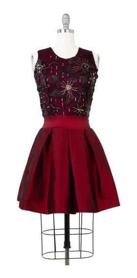Vestido De Fiesta Corto, Lazo Cintura, Corte Princesa.