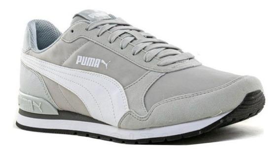 Zapatillas Puma St Runner V2 Hombre - Gris