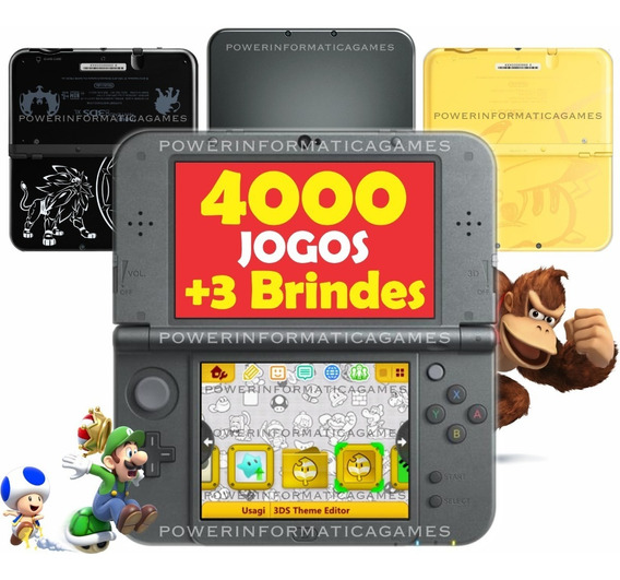 New 3ds Xl 64gb Varias Cores + Fonte + Película + Capa