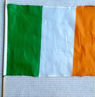 Bandera De Irlanda Perfecta Con Vara Importada .solo $3000