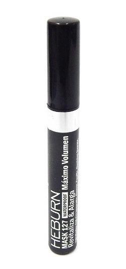 Heburn Máscara De Pestañas Waterproof Volumen Negro Cod 127