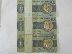 3 Cédulas De Um Cruzeiro- Uma Com Asterisco