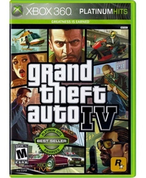 Jogo Gta 4 Platinumhits Xbox 360