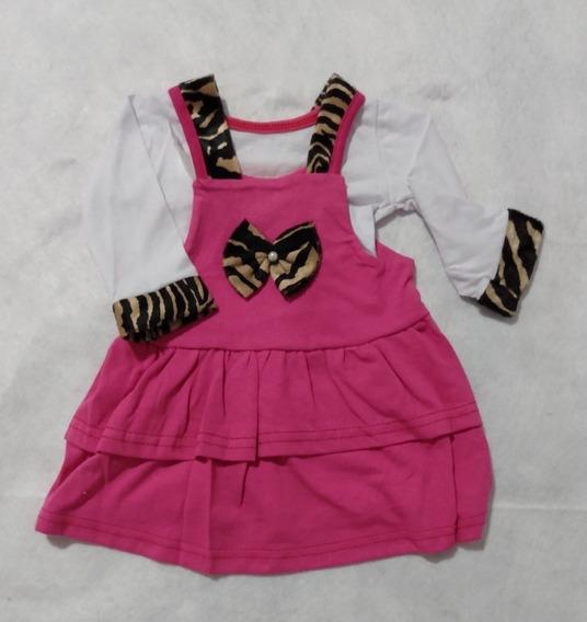 Roupa De Bebê Vestido Menina 100% Algodão