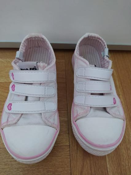 Zapatillas De Lona Con Abrojo Nena Rave Nº 26