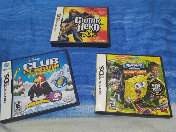 Lote 3 Jogos Nintendo Ds