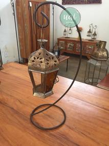 Lanterna Marroquina Metal Rustica Cobre Vela Super Promoção