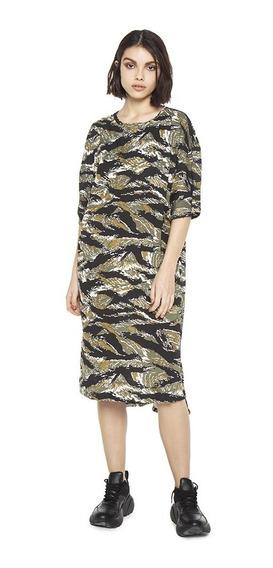 Vestido Warrior Casual Cuello Cubierto Mujer Complot