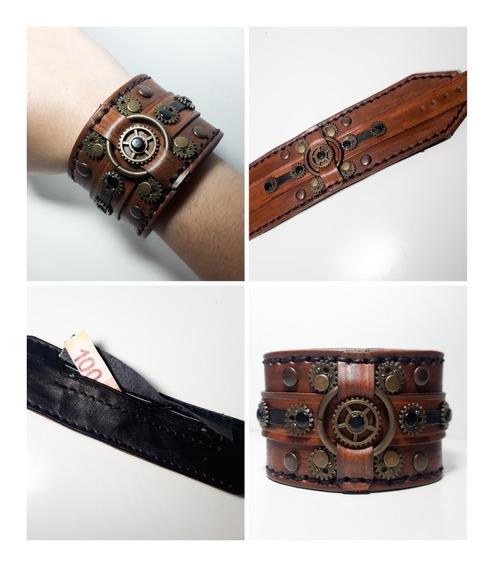 Pulsera Billetera(travel Wallet)en Piel,steampunk,artesanal
