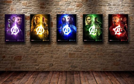 Placas Decorativas Vingadores Personagens E Cores Para Casa