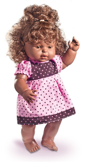 Boneca Ki Ternura Negra Fala Frases - Nova Toys