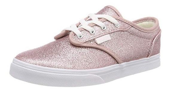 Zapatilla Vans Nena Atwood Slip On Glitter Rosa