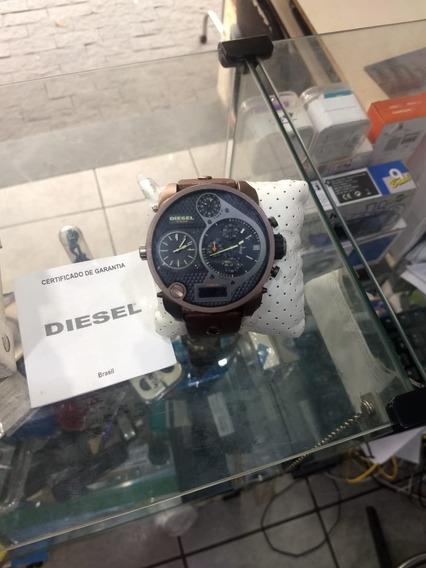 Foto 1 - Relógio Diesel Mr. Daddy Masculino Marrom - Idz724