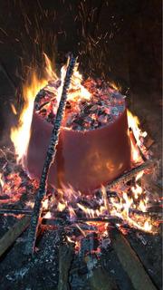 Firepit Y Firepits De Cobre Martillado Para Jardín O Exterio