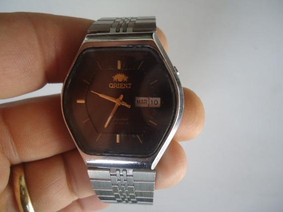 Relógio Orient Automático Antigo Perfeito Caixa Sextavada