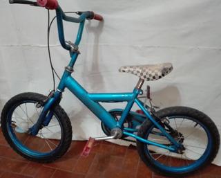 Bicicleta Rodado 12 Color Azul Metalizado