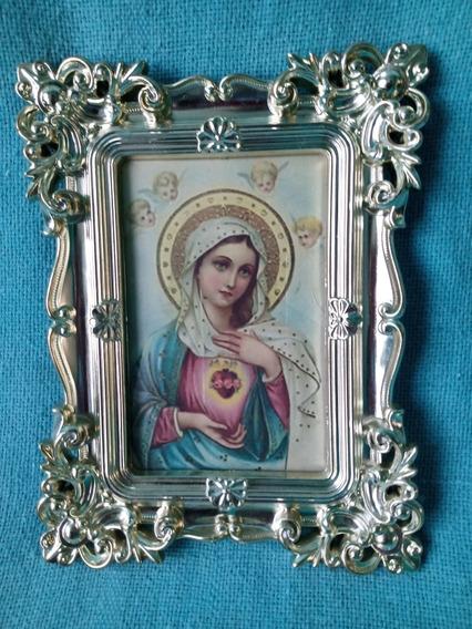 Porta Retrato Quadro Dourado Nossa Senhora Maria 10x15 Cm