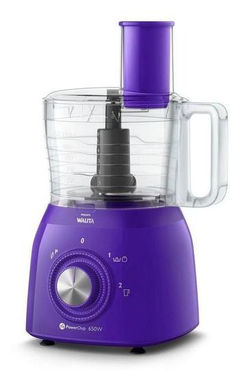 Multiprocessador Philips Walita RI7631 Viva Collection 650W violeta 110V