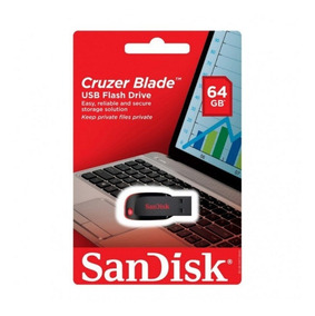 Pendrive Sandisk 64gb Cruzer Blade Original