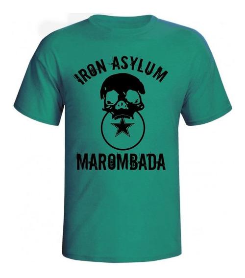 Camiseta Iron Asylum Marombada Masculina Para Academia