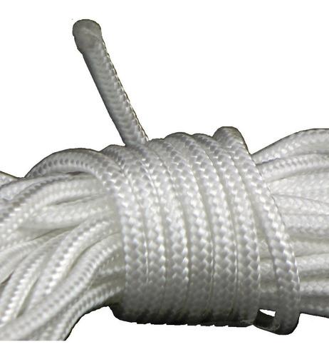 10.m Soga Cuerda Nylon Poliamida Trenzado 6.mm Multiuso - Material Virgen De Alta Tenacidad Resistente Sol Y Lluvia
