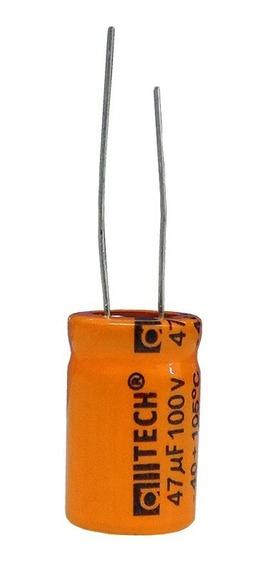 Capacitor Para Corneta 47x100v Bipolar 1 Peça.