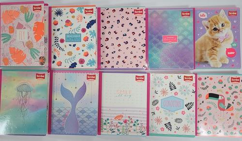 Caja De 12 Cuadernos Con Stickers