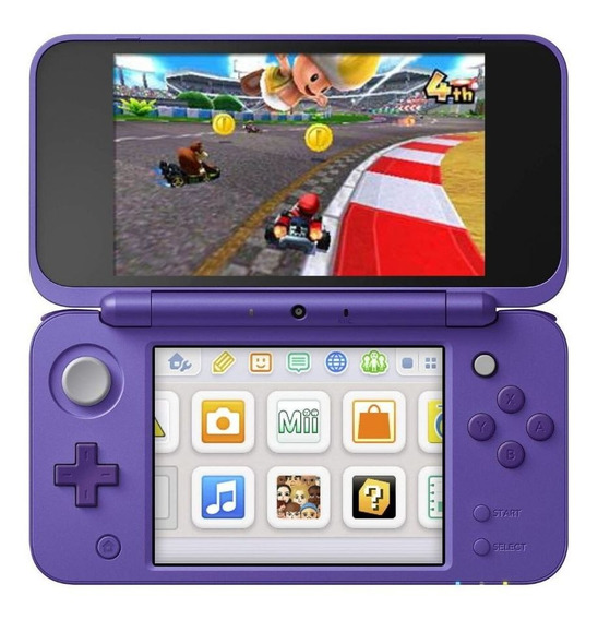 Nintendo New 2DS XL Mario Kart 7 Bundle violeta e prata