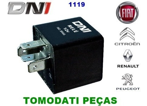 Relé Do Pisca 12v Fiat Uno, Renault, Peugeot, Dni 1119