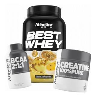 Best Whey 900g + Bcaa + Creatina Atlhetica Nutrition